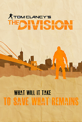 A4 A3 A2 A1 A0| The Division Tom Clancy Game Poster Print T251
