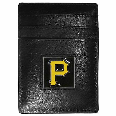 Angemessen Pittsburgh Pirates Mlb Feine Vollleder Kartenhalter Geldklammer Portemonnaie Fanartikel Weitere Ballsportarten