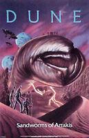 "Original 1984 Dune Movie Poster- Sandworms-  22"" x 34""- Excellent- Rolled!"