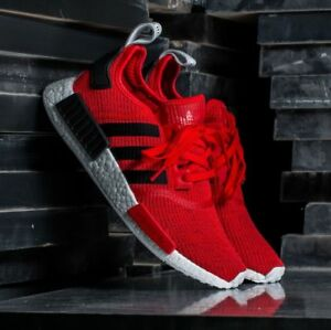 Details About Adidas Nmd R 1 Ultra Boost R1 Mens Red Shoes Running Hamburg Gazelle Bb2885 New