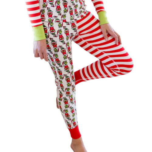 Natale Stripe Set Pjs Family Xmas di Style Match Nightwear Sleepwear New Pigiama UYa6q6d
