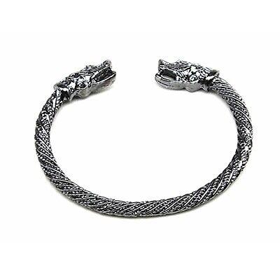 Dragon Head Cord Bangle Norse Vikings Bracelet For Woman Men Teens Goth Rings Wolfs Wolves Head-Bird Of Prey Raptor Raptors-Bangles