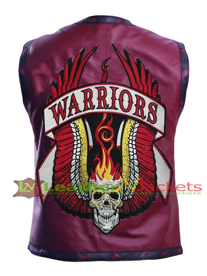 LNJ New Warriors Vest High Quality Skull Leather Vest in 4 colors