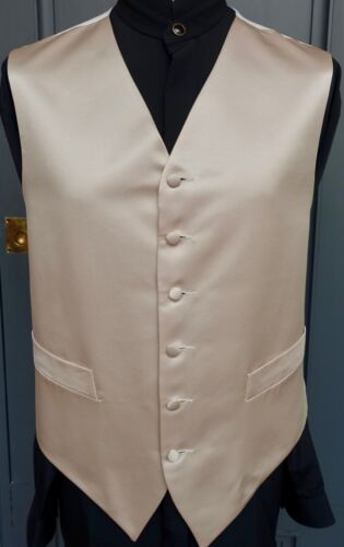 Details about  /Mens Vintage Waistcoat Luxury Cappuchino Satin Wedding Formal Evening Prom