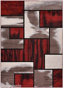 Red-Black-White-Abstract-and-Square-Area-Rug-Contemporary-Rugs-2x3-2x7-5x7-8x10