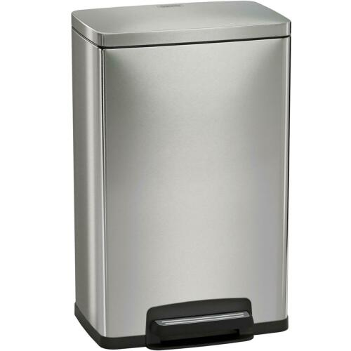 Tramontina Stainless Steel Step Trash Can 13 Gallon Silver