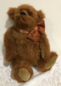 VTG-Bearly-There-Teddy-Bear-Zeke-by-Linda-Spiegel-12-034-Bow-Tie-New
