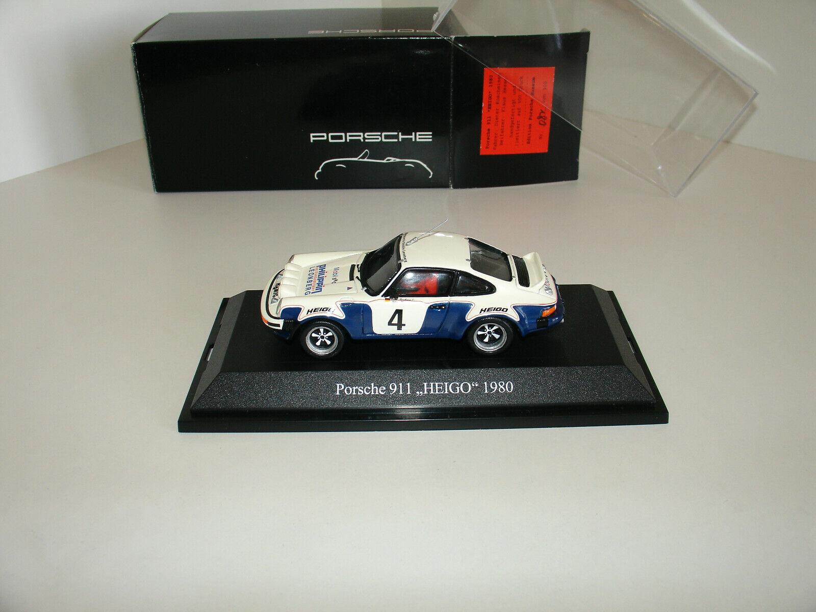 1 43 PORSCHE 911  HEIGO  1980  4 PORSCHE MUSEUM L.E. 300Pcs by Premium ClassiXXs