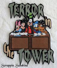 DISNEY TERROR IN THE TOWER Die Cut Title Scrapbook Page Paper Piece - SSFFDeb