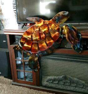 Details About Metal Wall Art Sea Turtle Decor Outdoor Yard Beach House