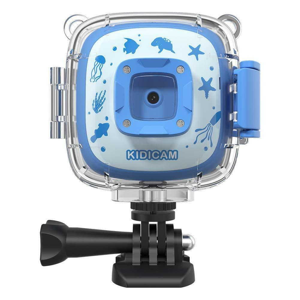 Dragon Touch Kidicam 1080P Kids Action Camera 30m Waterproof Camera (bluee)