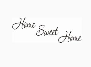Home Sweet Home Salon Mur Citations Autocollants Muraux 58 cm x 22 cm UK 32