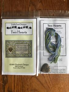 Two-Hearts-As-One-Unite-Cross-Stitch-Little-Leaf-Elizabeth-s-Designs-Charm-Floss