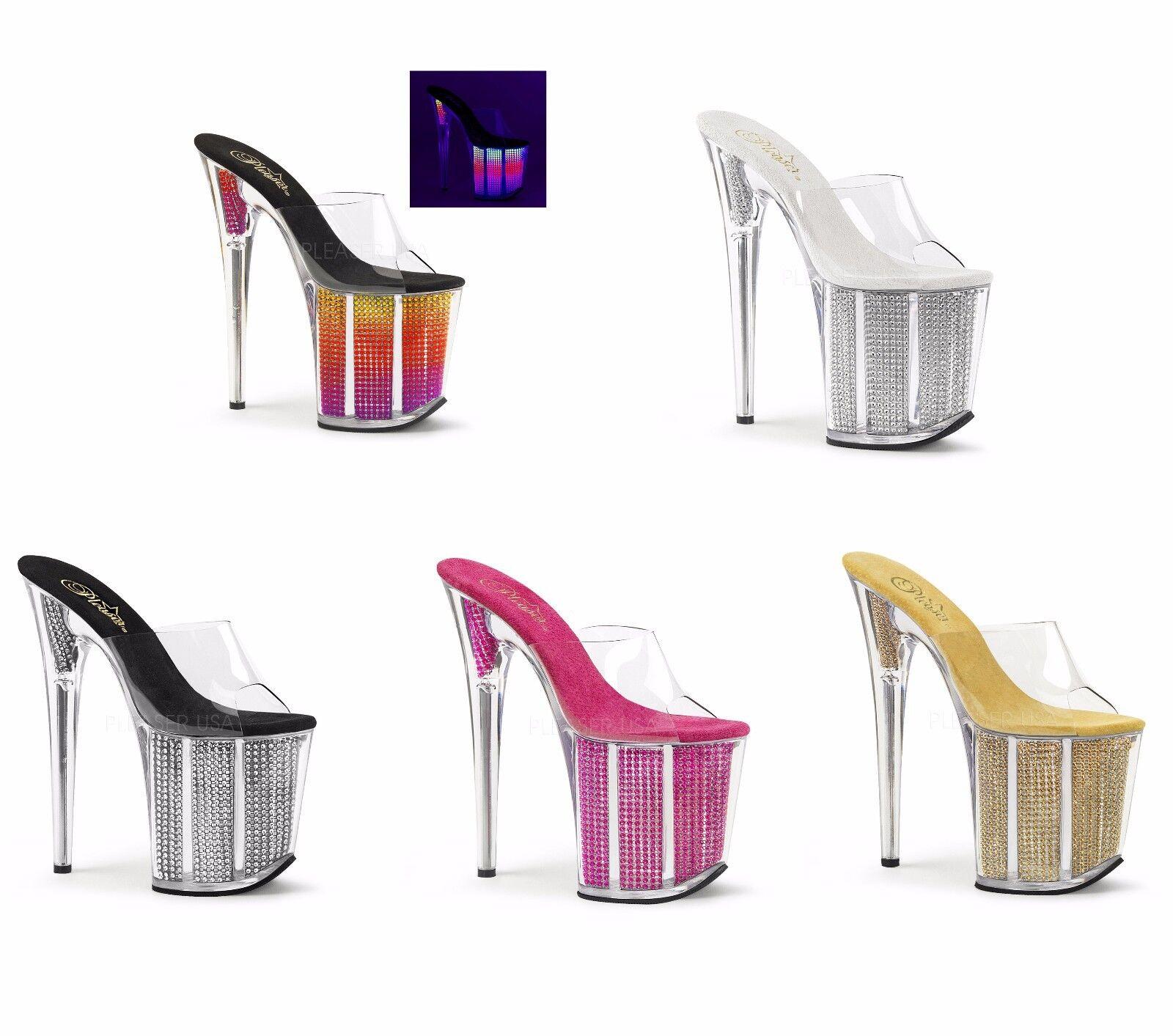 Pleaser Flamingo - 801SRS diapositiva diapositiva diapositiva de plataforma de baile exótico  entrega rápida