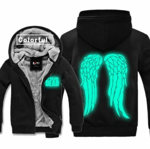 The Walking Dead Hoodie Zombie Daryl Dixon Wings Winter Mens Jacket Sweatshirts