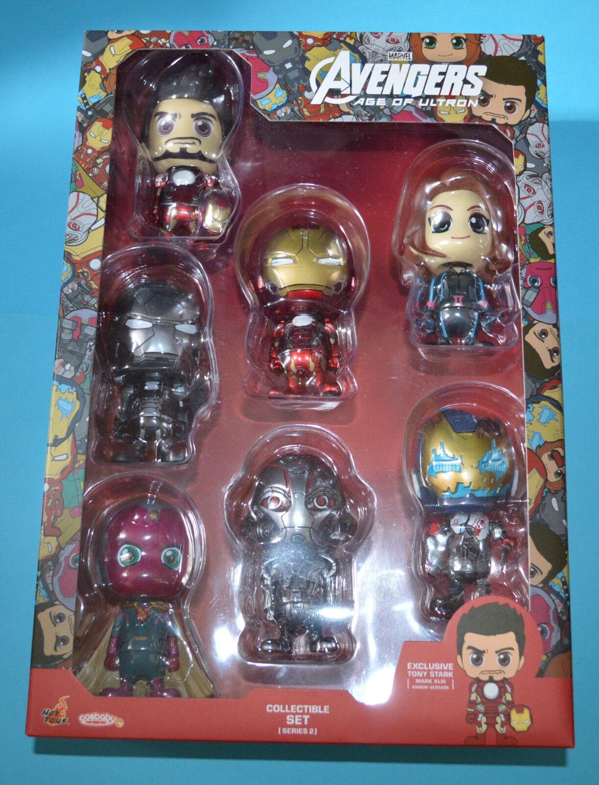heta leksaker förundras Avengers Ålder av Ultron Cosbebis Series 2 Figur låda Set Iron Man