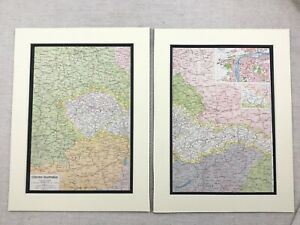 1920-Antique-Prints-Map-of-Czechoslovakia-Czech-Republic-Prague-Street-Plan
