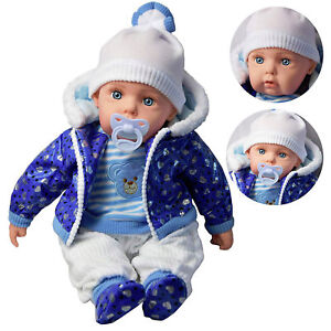 "20"" Lifelike Large Size Soft Bodied Boy Baby Doll With Dummy & Sounds"