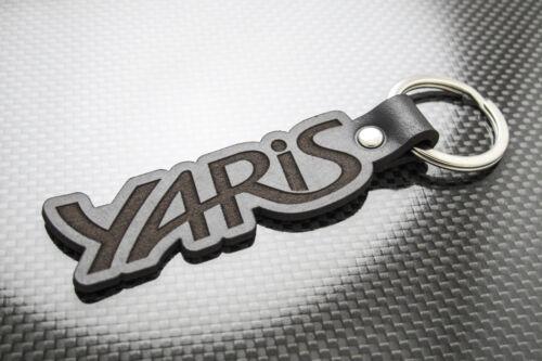 Toyota YARIS Luxury Leather Keyring Schlüsselring Porte-clés T-Sport VVTi Spirit