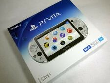 PS Vita PCH-2000 ZA25 Silver Wi-Fi Console Sony PlayStation F/S NEW JPAN