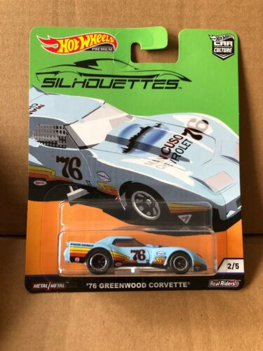 Combined Postage HOT WHEELS CAR CULTURE Silhouettes '76 Greenwood Corvette 2//5