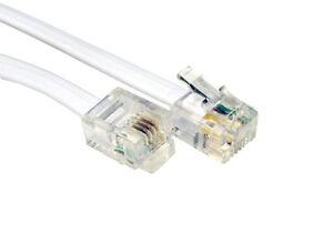 RJ11 ADSL 4 Wire Internet Cable Modem Lead (6P4C) 30cm 3023372006484 ...