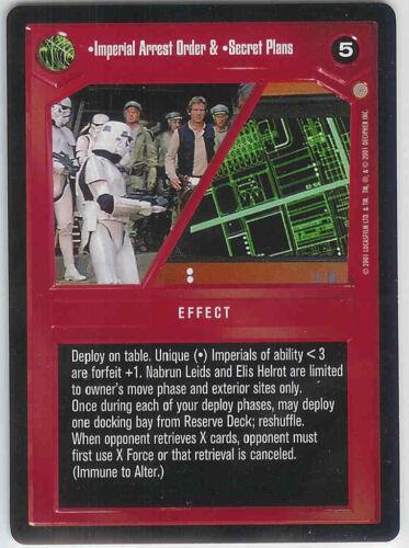 Star Wars CCG Coruscant Imperial Arrest Order /& Secret Plans