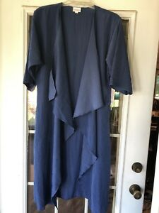 Lularoe-Shirley-Blu-Kimono-Coverup-S-Small-Nuovo-Solido