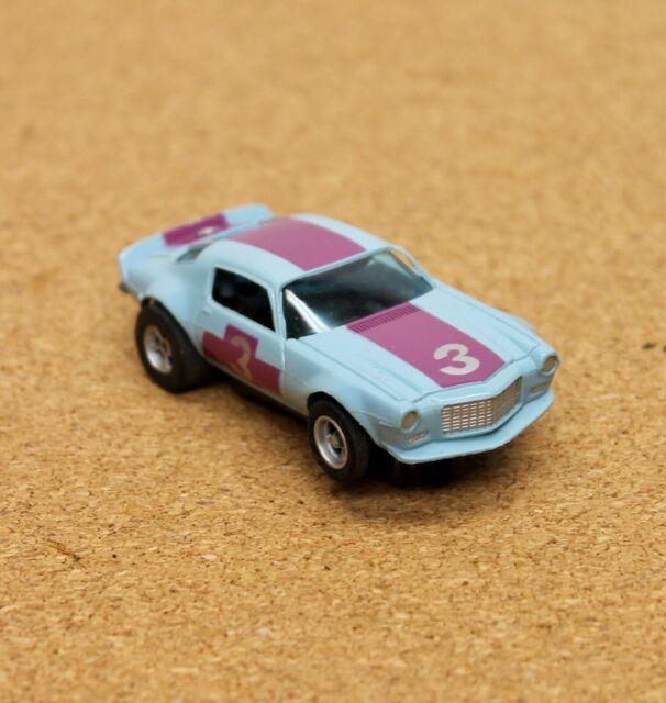 AURORA/AFX VINTAGE #3 CAMARO Z28 TRANS AM Blue HO Slot Car Magna-Traction Nice!