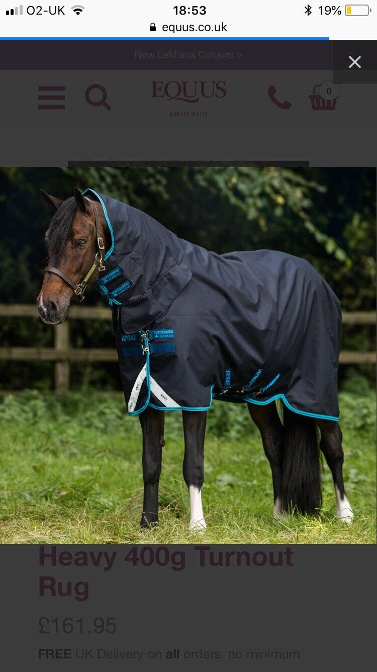 NEW Horseware Amigo All In One Combo Turnout Heavyweight Turnout Combo Rug 6ft 3 Bravo 12 fcb40b