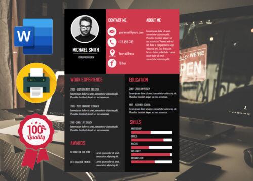 Digital Professional CV template Instant download resume template