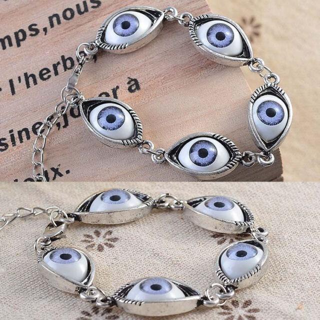 Chic Punk Rhinestones Studded Evil Eyes Lovely Eyeballs Style Bracelet BL-0100