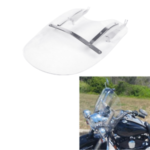 Clear-Windscreen-Windshield-For-Harley-Heritage-Softail-Classic-FLSTC-00-17-16