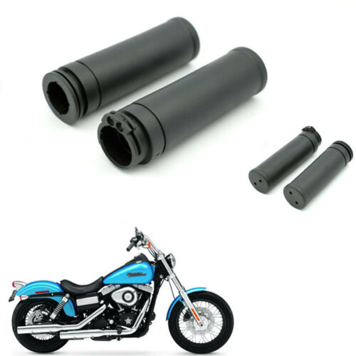"""Motor Rubber HandleBar Hand Grips 1/"""" for Harley twin cable throttle Sportster"""