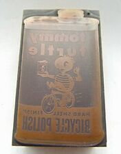 Printing Letterpress Printers Block Tommy Turtle Bicycle Polish Can