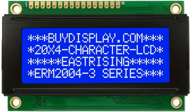 Small Size 5V Blue 2004 20x4 Character LCD Display Module w/Tutorial,HD44780