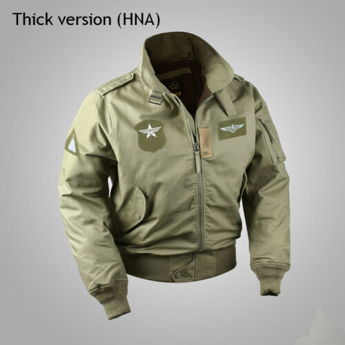 Plus Size USAF Bomber Flight Jacket Vintage Men/'s Military Uniform Winter Coat
