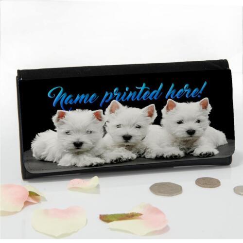 Personnalisé West Highland Westie Mesdames argent grand Coin Purse cadeau maman ST071