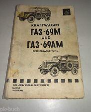 Betriebsanleitung / Handbuch Russischer Geländewagen GAZ 69 M / AM Stand 1968