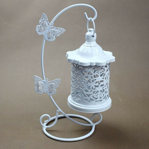 Candelabros Hollow Hanging Bird Cage Candle Holder Candlestick Lantern Butterfly
