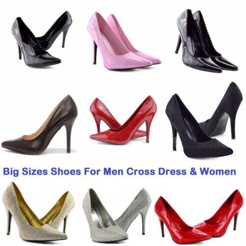 Grande taille Cross dresser Femmes Drag Queen Cuir Verni Talon Haut Taille 9-12 shoes