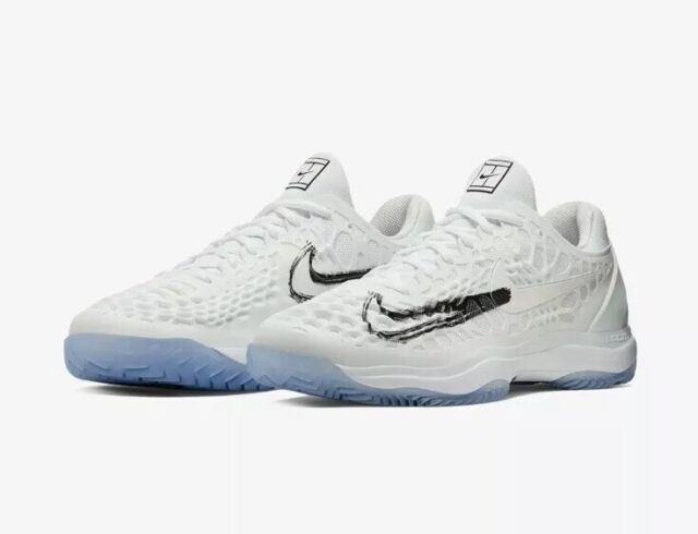 low cost best shoes really cheap NEW Sz 9.5 Men's Nike Air Zoom Cage 3 HC Rafa Rafael Nadal White 918193-105