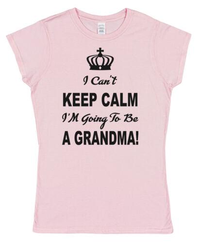Je ne peux pas garder Calme-grand-mère Femmes Ajusté T-shirt en coton petit-fils annonce