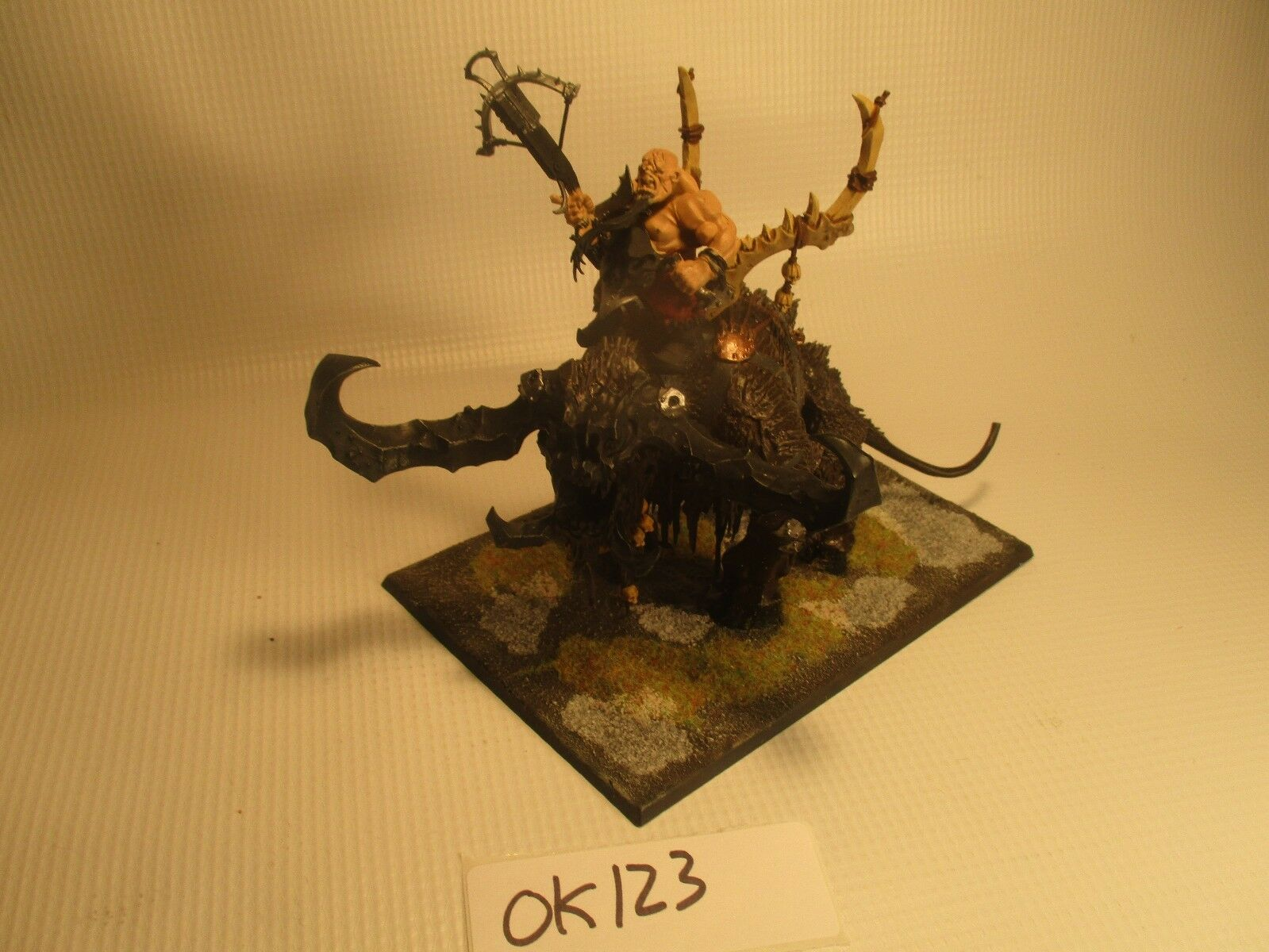 Warhammer Fantasy Age of Sigmar Oger Kingdoms Stonehorn Painted and Based