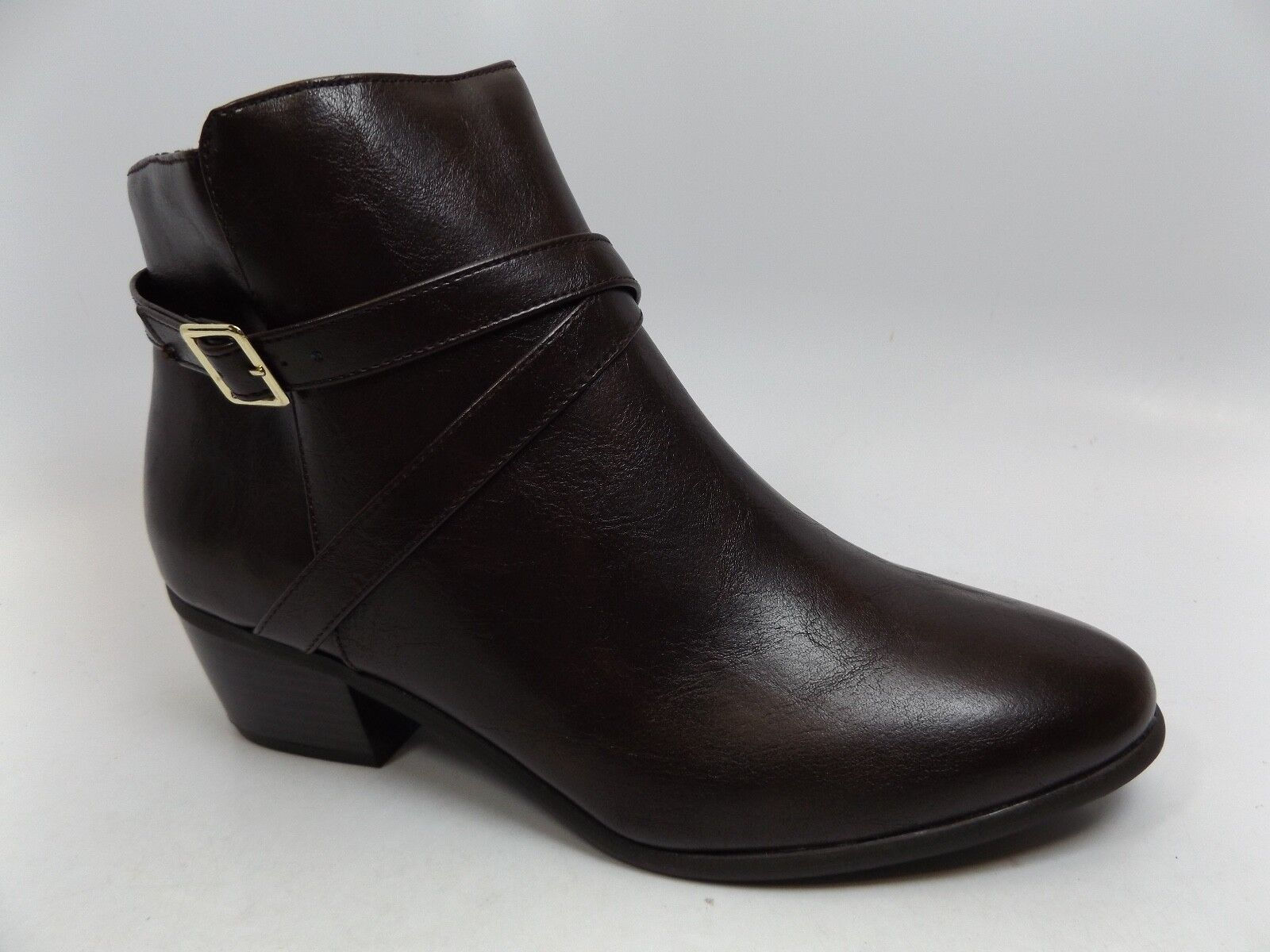 Valerie Stevens Haliday Ankle Boots-Women's SZ 10.0 M DK Brown NEW DISPLAY D8746