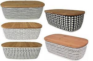 Black-Cream-Bamboo-Bread-Bin-Bread-Crock-With-Lid-as-a-Chopping-board