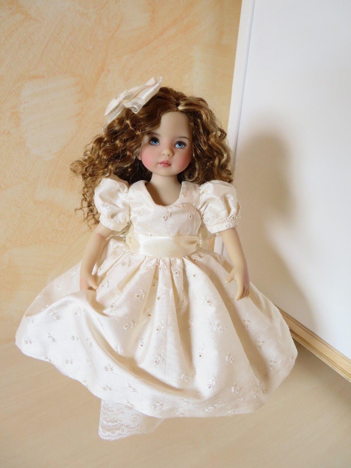 Unikat seta vestito, capelli fiocco; scarpe per Little darling Dianna Effner 13
