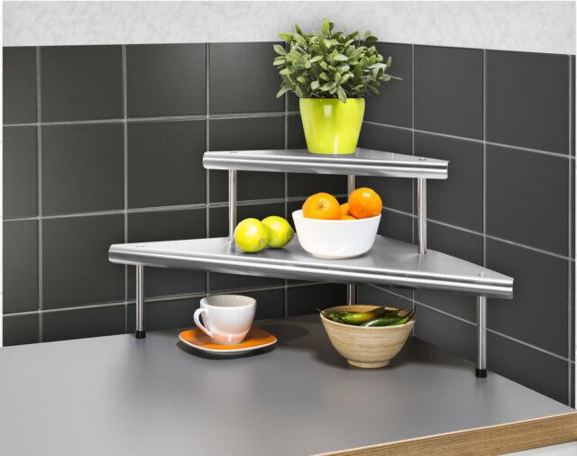 WENKO Küchen-eckregal Massivo Duo mit 8 Ablagen Edelstahl Rostfrei  8045030500