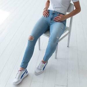 Levi-039-s-711-Skinny-Blau-Damen-Jeans-DE-38-US-W30-L30