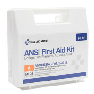 First Aid Kit FAO 25 Person Plastic Ansi A #90588